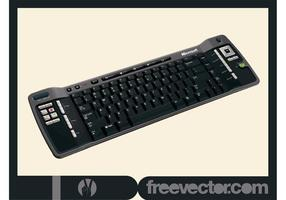 Teclado de PC negro vector