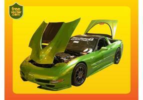 Grön Corvette