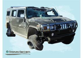Hummer Wreck vector
