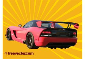 Red Dodge Viper vector