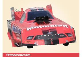 Red-drag-race-car