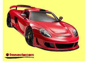 Red Porsche Carrera GT vector