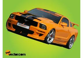 Gul Ford Mustang