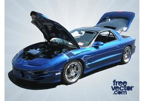 Blue Pontiac Trans Am