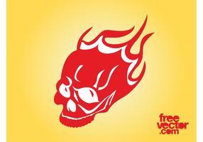 Graphiques de crâne brûlant