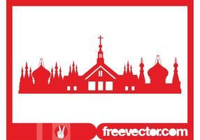 Silhouette de l'église orthodoxe