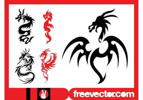 Ensemble de tatouages ​​de dragon