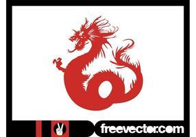 Dragón asiático enojado
