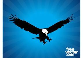 Silueta del águila calva