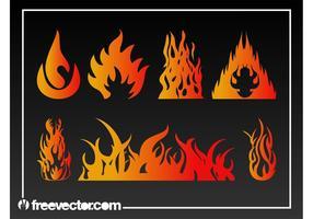 Flammen Vektorgrafiken