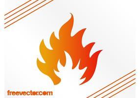 Stilisierte Flammengrafiken