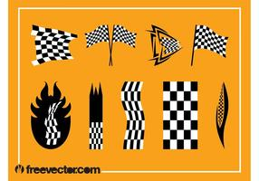 Racing Flags Vector Graphics