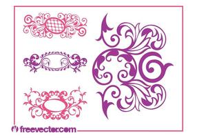Vintage-scrolls-graphics-vector