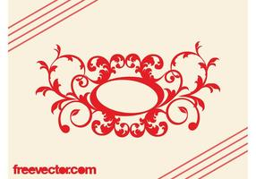 Vector-retro-floral-scroll