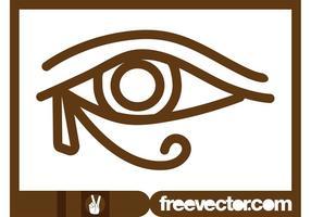 Olho do vetor Horus