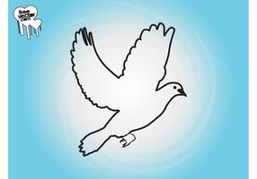 Flying-dove-outlines-vector