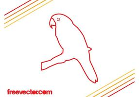 Parrot-outlines-vector