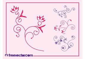 Blütenblätter Designs Set