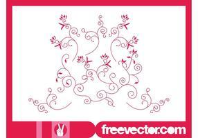 Decorative Floral Scrolls Vector