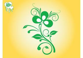 Swirling-plant-design-vector