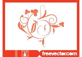 Swirling-floral-design-vector