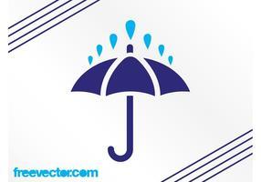 Rain And Umbrella Icon