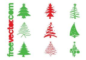 Christmas-trees-icons-vector