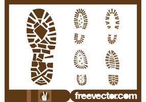 Gráficos de zapatos de impresión