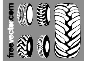 Vector-tires-graphics-set