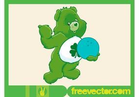 Cuidado vetor urso