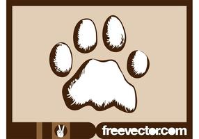 Dog-paw-vector