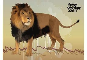 Hombre vectorial Lion