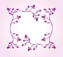 Floral-frame-vector-two