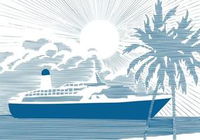 Cruise-ship-background-vector
