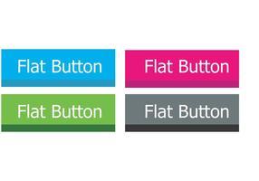 Flat Button Vectors