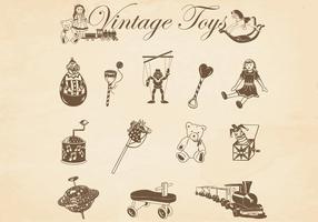 Vintage Vectores Juguetes