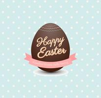Vettore di cioccolato uovo di Pasqua
