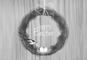 Feather Easter Vector Background