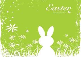 Green Easter Bunny Vector