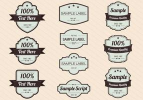 Retro Label Vectors