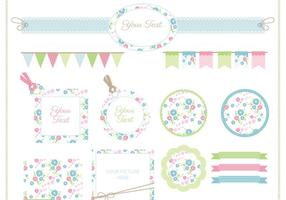 Floral Scrapbook Vector Set