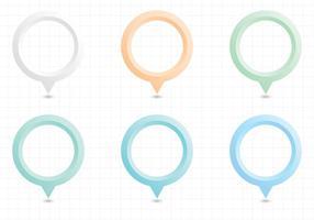 Pastel Map Pointers Vector Pack