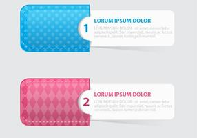 Patterned Pocket Tags Vector Set