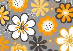 Vetor de fundo de flores de primavera
