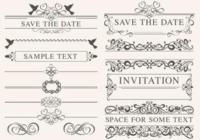 Vintage Wedding Ornament Vectors