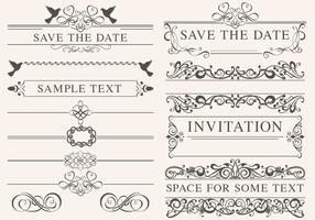 De vintage Vectoren van het Huwelijk van het Huwelijk