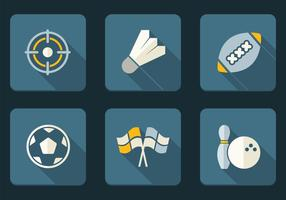 Flat-sport-icons-vector-set