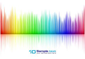 Free Vector Colorful Music Equalizer