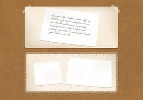 Antiguo Vintage Banners de papel Vector Set