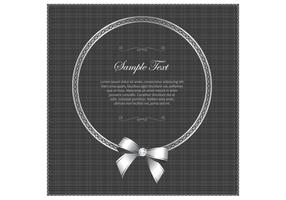 Silver-luxury-frame-card-vector